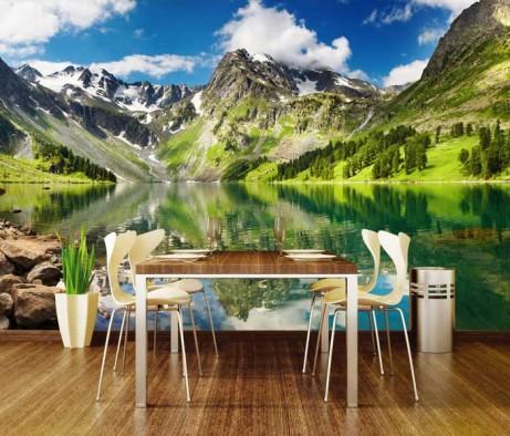 vliesové fototapety na zeď DIMEX hory a jezero