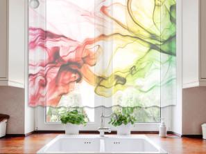 Textilní záclona barevný kouř
